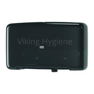 5555290 Tork Mini Jumbo Dual Toilet Roll Dispenser Black