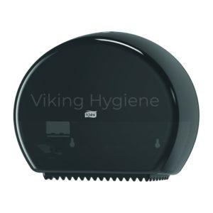 555028A Tork Elevation Mini Single Jumbo Bath Dispenser Black
