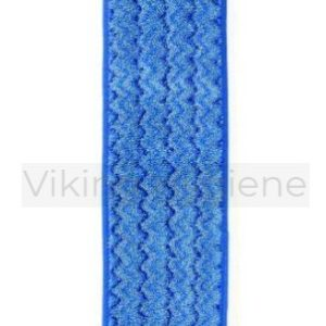 Mop Pad – 18″ Wet, Microfibre Blue W/Blue Border, Pad Only Hygen (Q410) Each