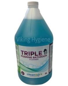 0110018 – Bathroom Cleaner – Triple B Foaming Bathroom Cleaner 4l Cleanworx